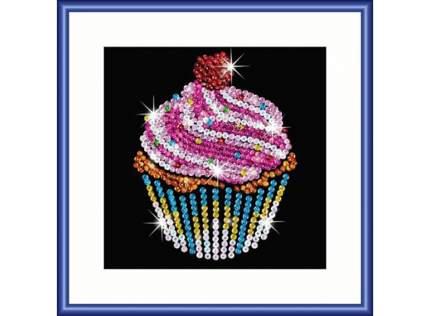 Мозаика из пайеток KSG Sequin Art Пирожное фокус