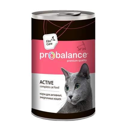 Консервы для кошек ProBalance Active, с курицей, 12шт по 415г