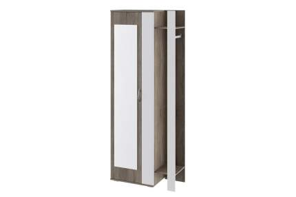 Платяной шкаф Hoff 80326975 80х35х200, дуб сонома трюфель/белый глянец