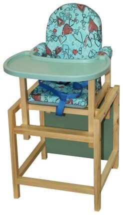 СЕНС-М Стул-стол для кормления СТД 07 пластиковая столешница Бирюзовый СТД0702