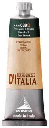 Масляная краска Maimeri Terre Classico D'Italia земля зеленая веронская 60 мл