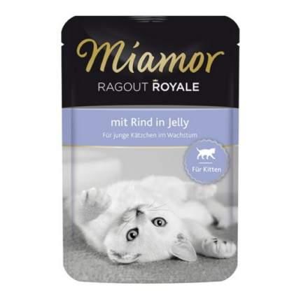 Влажный корм для котят Miamor Kitten Королевское рагу, с говядиной в желе, 100г