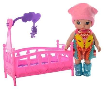 Кукла в кроватке, 6 видов в ассортименте, 32x25x3см