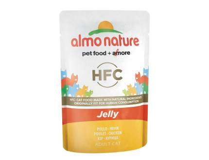 Влажный корм для кошек Almo Nature HFC Jelly, курица, 55г