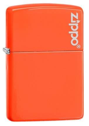 Бензиновая зажигалка Zippo Zippo Logo Neon Orange