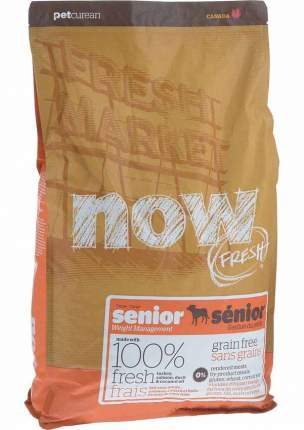 Сухой корм для собак NOW Fresh Senior, контроль веса, индейка, утка, овощи, 5,45кг