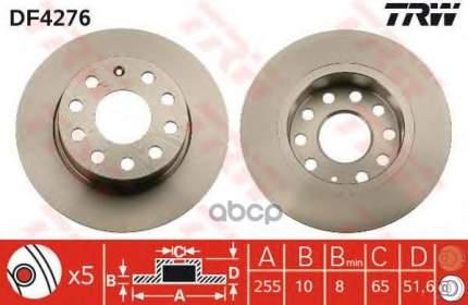 Тормозной диск TRW/Lucas DF4276 задний