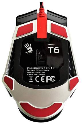 Проводная мышка A4Tech Bloody T6 Grey/Black
