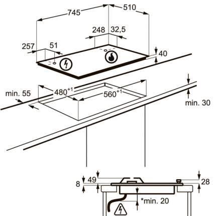 Встраиваемая варочная панель газовая AEG HG575545SY Silver