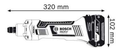 Аккумуляторная прямая шлифовальная машина Bosch GGS 18 V-LI 06019B5304
