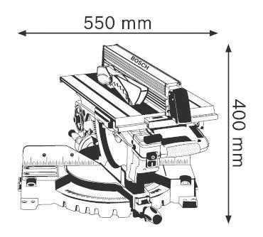 Сетевая торцовочная пила Bosch GTM 12 JL 0601B15001
