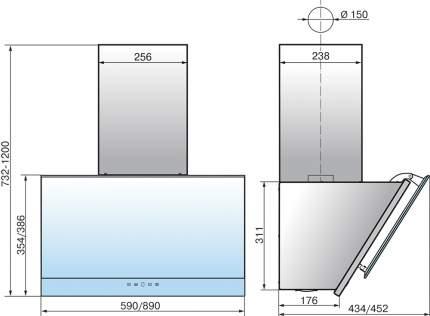 Вытяжка наклонная Elikor Жемчуг 60П-700-Е4Д White