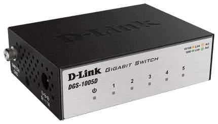 Коммутатор D-Link DGS-1005D/I2A Серый, черный