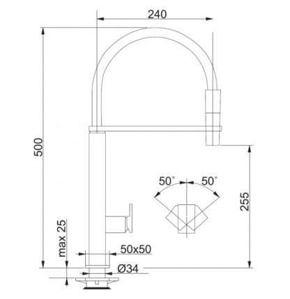 Смеситель для кухонной мойки Franke Centinox Pro 115.0177.709 хром