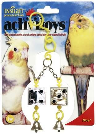 Дразнилка для птиц JW Кубики зеркальные с колокольчиками, Пластик, Металл, 17,5см