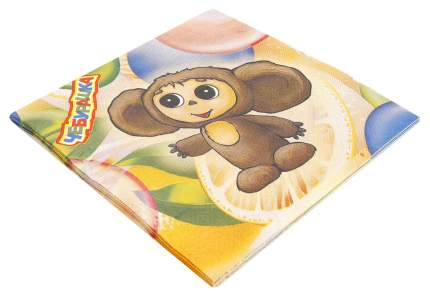 Набор из бумажных салфеток Веселый Праздник Чебурашка