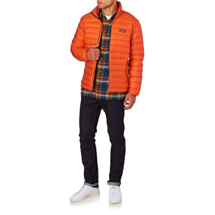 Спортивная куртка мужская Patagonia Down Sweater, cusco orange, S