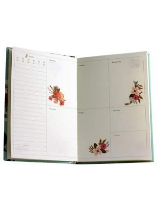Планер с Цветочками Monarch формат А5 красный