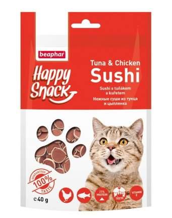 Лакомство для кошек Beaphar Happy Snack, нежные суши из тунца и цыпленка, 40г