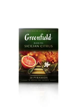 Чай черный Greenfield в пирамидках Sicilian Citrus коробка 8 шт по 20 пакетиков