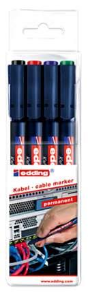 Маркеры для кабелей Edding E-8407/4S 4 шт., Черный/Красный/Синий/Зеленый...