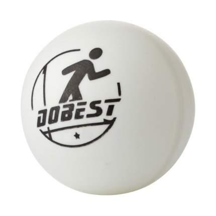Мяч для настольного тенниса DoBest BA-02 1* 6 шт., белый