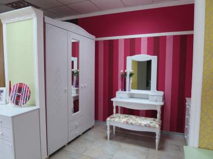Платяной шкаф Компасс-мебель Ассоль АС-27 KOM_AC27 152,8x56,6x223, белое дерево