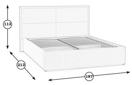 Кровать интерьерная Mobi Прага Савана Фиолет 187х213х113 см