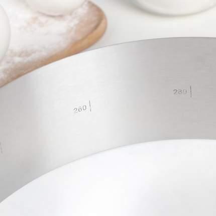 Кольцо раздвижное для выпечки Доляна с регулировкой размера 16-30 см
