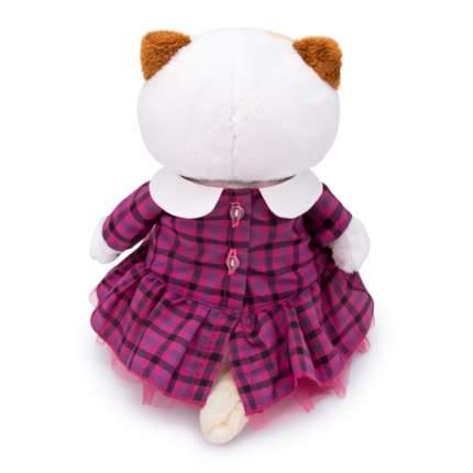 Мягкая игрушка BUDI BASA Кошка Ли-Ли в платье в клетку 24 см
