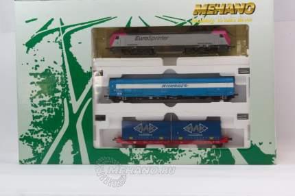 Электровоз Mehano Prestige EUROSPRINTER MAGENTA с 2-мя вагонами