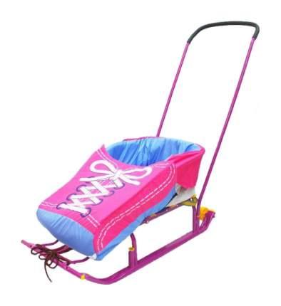 Матрас для санок R-TOYS Кеды розовый/голубой