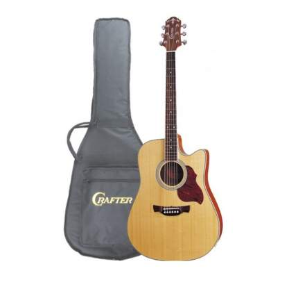Электроакустическая гитара шестиструнная CRAFTER DTE-6 N  Чехол