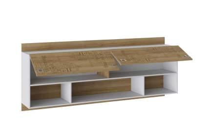 Платяной шкаф Hoff Оксфорд 80321211 204,4х36,6х82,6, ривьера/белый с рисунком