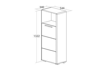 Платяной шкаф Hoff Наоми 80308051 54,4х34х132,2, белый глянец