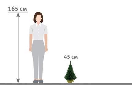 Ель искусственная Hoff 45 см