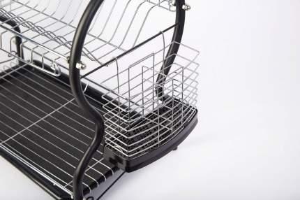 Сушилка для посуды 2-ярусная с поддоном и держателями WALMER W04325539