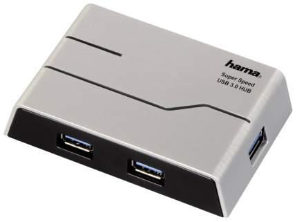 Разветвитель для компьютера Hama SuperSpeedActive серебристый (00039879)