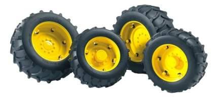 Шины Bruder для сдвоенных колёс с жёлтыми дисками 4 шт. 10,4 см