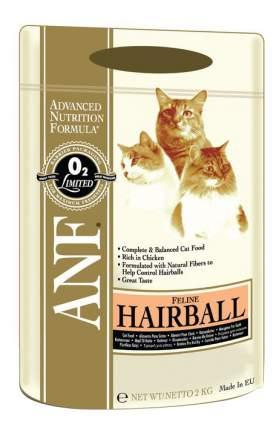 Сухой корм для кошек ANF Hairball, для вывода шерсти, курица, 2кг