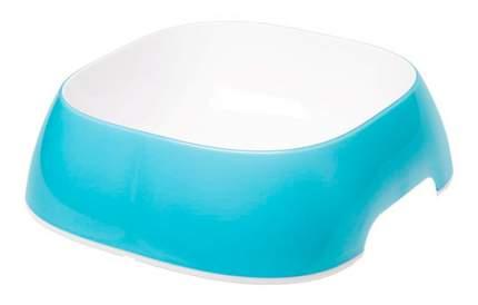 Одинарная миска для собак Ferplast, пластик, голубой, белый, 1.2 л