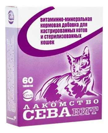 Лакомство для кошек Ceva СЕВАвит для кастрированных и стерилизованных, 60таб