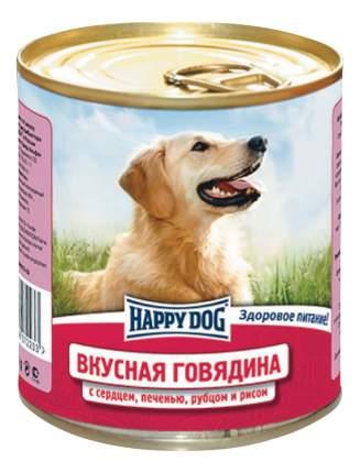 Консервы для собак Happy Dog, вкусная говядина, рис, 12шт, 750г