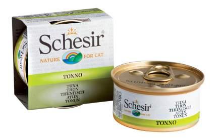 Консервы для кошек Schesir, тунец, 14шт по 70г