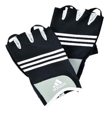 Перчатки для фитнеса и тяжелой атлетики ADGB-12233 черно-белые L/XL