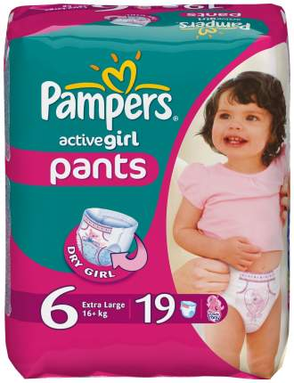 Подгузники-трусики Pampers Active Girl Extra Large 6 (16+ кг), 19 шт.