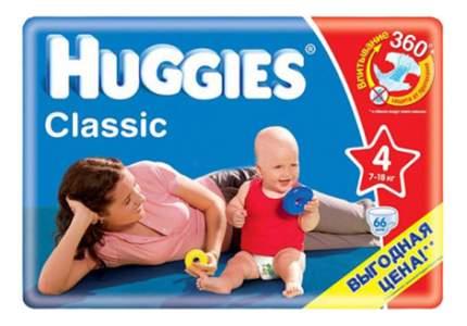 Подгузники Huggies Huggies Classic 4 (7-18 кг), 66 шт.