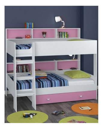 Двухъярусная кровать Golden Kids 1 белая/розовая