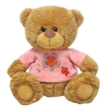 Мягкая игрушка LAVA Медвежонок Сэмми в розовой кофточке музыкальный 17,5 см
