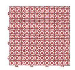Покрытие модульное PARK 1 кв.м., 11 шт., Terracotta (999140)